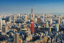 Skyline of Tokyo cityscape with Tokyo Tower