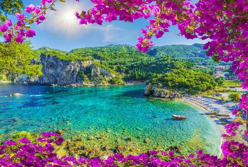 Stunning landscapes on the island of Corfu