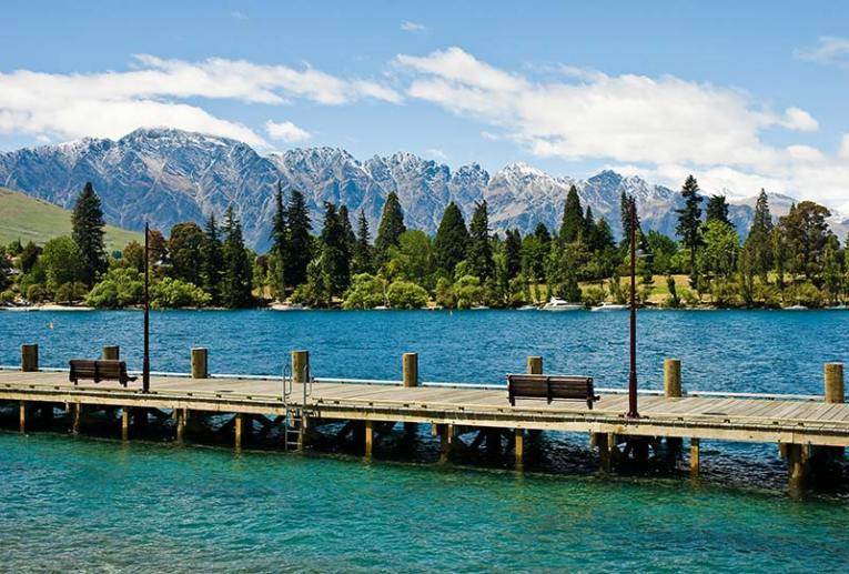 View of the Remarkables from Queenstown