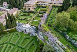 Aerial view of La Foce Photo: Max Morriconi