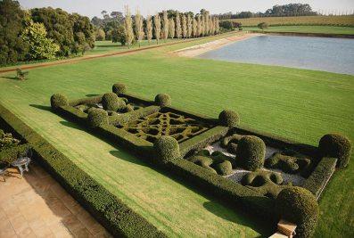 Formal parterre garden, Fraser Gallop Estate © Julie Kinney