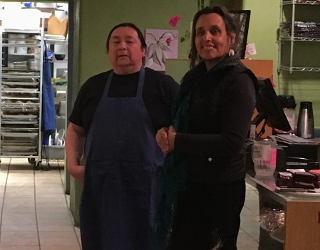 Anthony Archuleta and Winona LaDuke. Photo by Elizabeth Hoover
