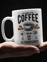 Skodelica Life begins after coffee