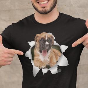 Bokser Boxer, majica za paske ljubitelje