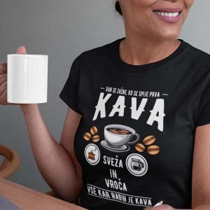 Dan se začne ko se spije prva kava, majica