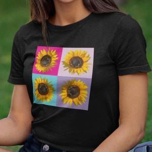 Sončnica, popart majica