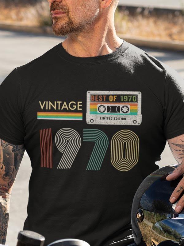 Vintage best of 1970, tshirt