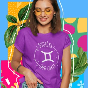 printed t-shirt birthday horoscope twins gift fun funny printing wardrobe ljubljana print on t-shirts print on request dtg printing quality durable online purchase delivery personal collection