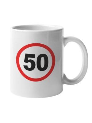 Skodelica Prometni znak 50