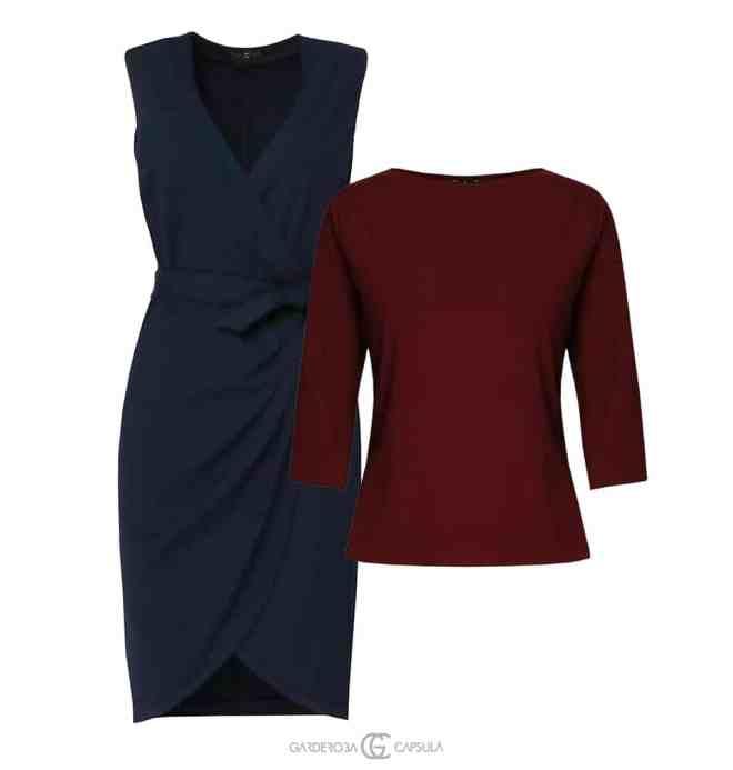 Rochie Petrecută + Top basic Doar înlocuieşti rochia cu pantalonii de trening. Vei fi gata de Netflix  într-o clipă.