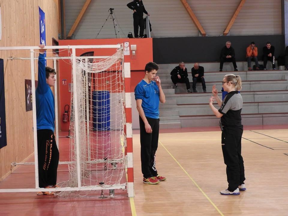 entrainement du gardien de handball