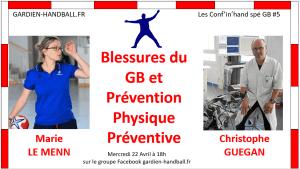 Conf'in'hand spé GB #5 : Blessures du GB et prévention (invité: C. Guégan)