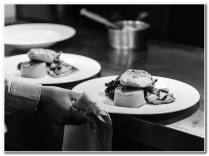 Collecting_Plates_Of_Food_B&W