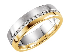 QG Tutone Gold Diamond Ring
