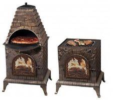 Low Price Chiminea Fire Pit Pizza Oven Garden Landscape