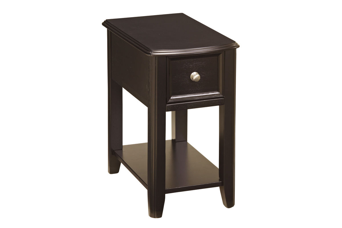 Almost Black Chair Side End Table T007-371 At Gardner-White