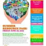 6/28/19 – Summer Resource Fair