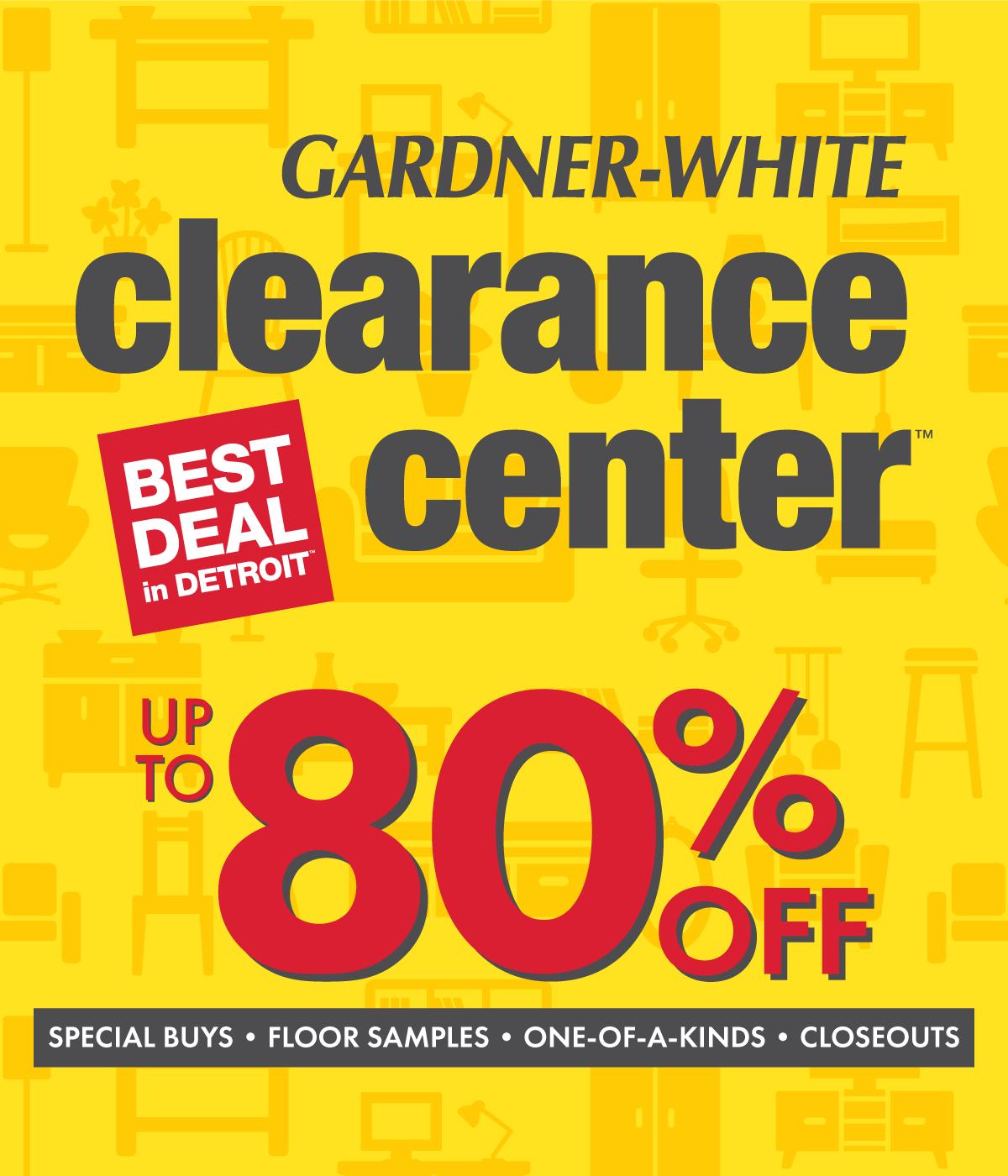 clearance center gardner white