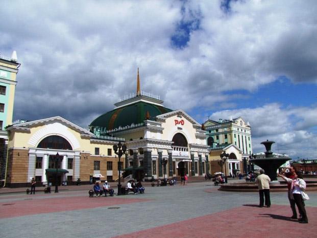gare centrale de Krasnoiarsk