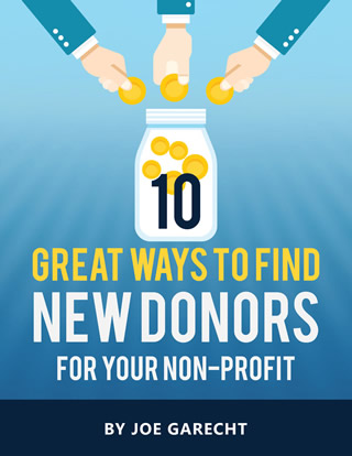Free E-Book: 10 Great Ways to Find New Donors