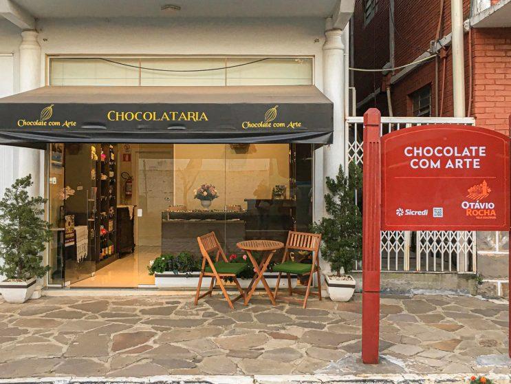 Chocolate com arte loja