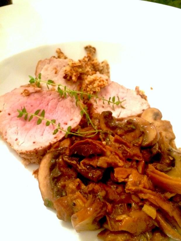 Finished pork tenderloin
