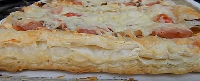 Receta de pizza casera en el horno con foto.