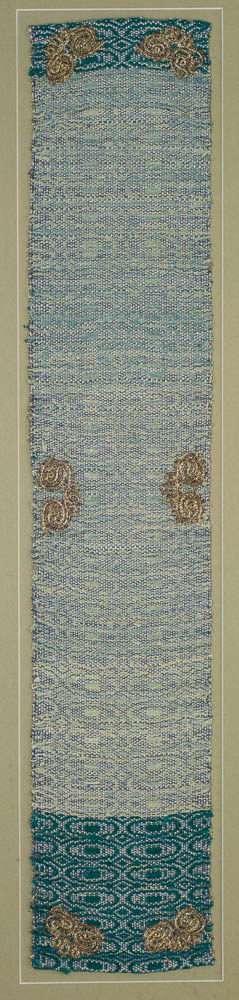 Afsaneh Modiramani, tableau, silk, cotton, silver, 14 x 73cm