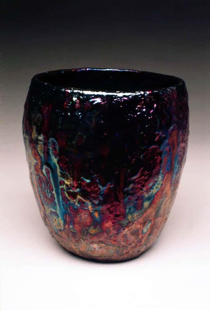 Mehrzad Mumtahan, Untitled (Healing Series - Vase), 1993, Earthenware White Clay and Raku Glaze (H 250mm X W 170mm X D 160mm) photo: Mehrzad Mumtahan