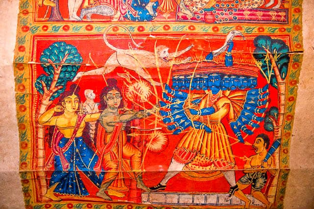 West Bengal scroll painting