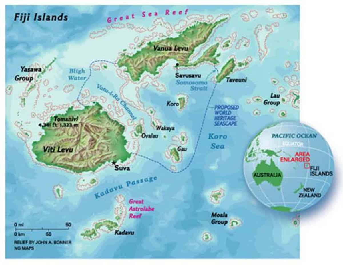 Na Noqu Salusalu Garlands In Fiji Garland Magazine - Republic of fiji map