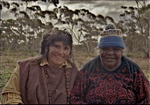 Nalda Searles and Pantjiti Mary McLean