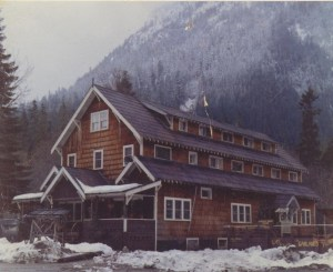 Garland Mineral Springs Lodge destroyed by fire in January 1961.