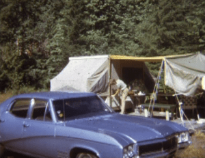 Camping with the 68 Buick Skylark and popup camper at Garland in 1972