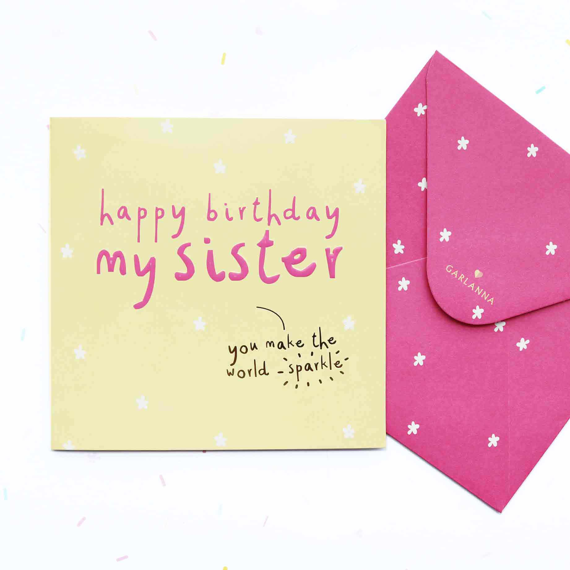 Little Moments Sister Birthday Card Garlanna Greeting Cards