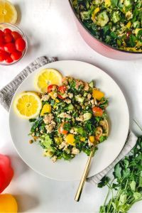 lentil salad recipe with lemon and feta