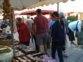 Walking around the market