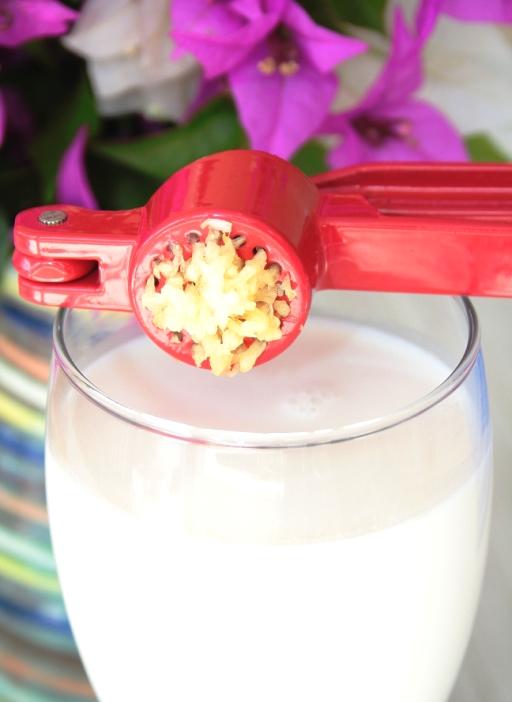 milk & pressed garlic