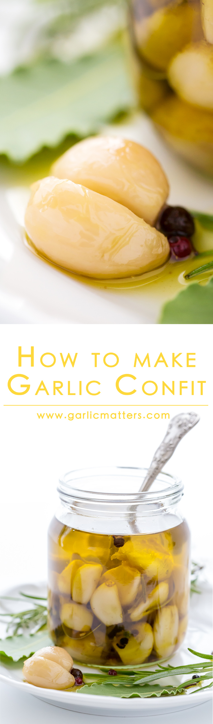 How To Make Garlic Confit - really easy guide to transforming garlic into the most flavourful, mellow cooking ingredient or a snack with an amazing garlic infused oil for your dressings. Fantastic 30 min recipe - really worth sharing!