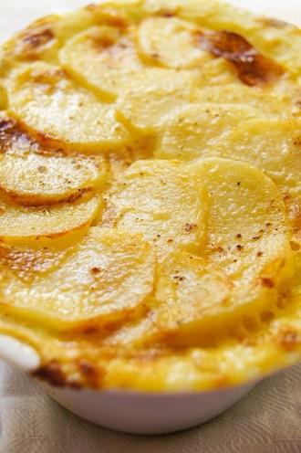 Dauphinoise Potatoes with Oak Smoked Garlic