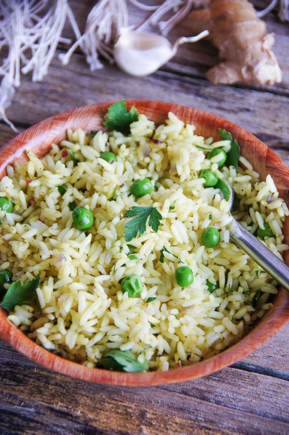 30 min, easy recipe for healthy Vietnamese Style Rice, which works great on its own, but can easily complement a nice fish or meat dish.