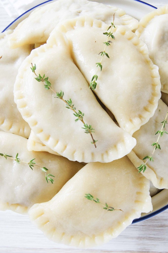 Easy to follow, step by step recipe with pictures of Pierogi with Cabbage and Mushroom Filling - all time favourite Christmas, Polish dish.