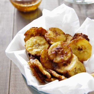 GARLIC PLANTAIN TOSTONES