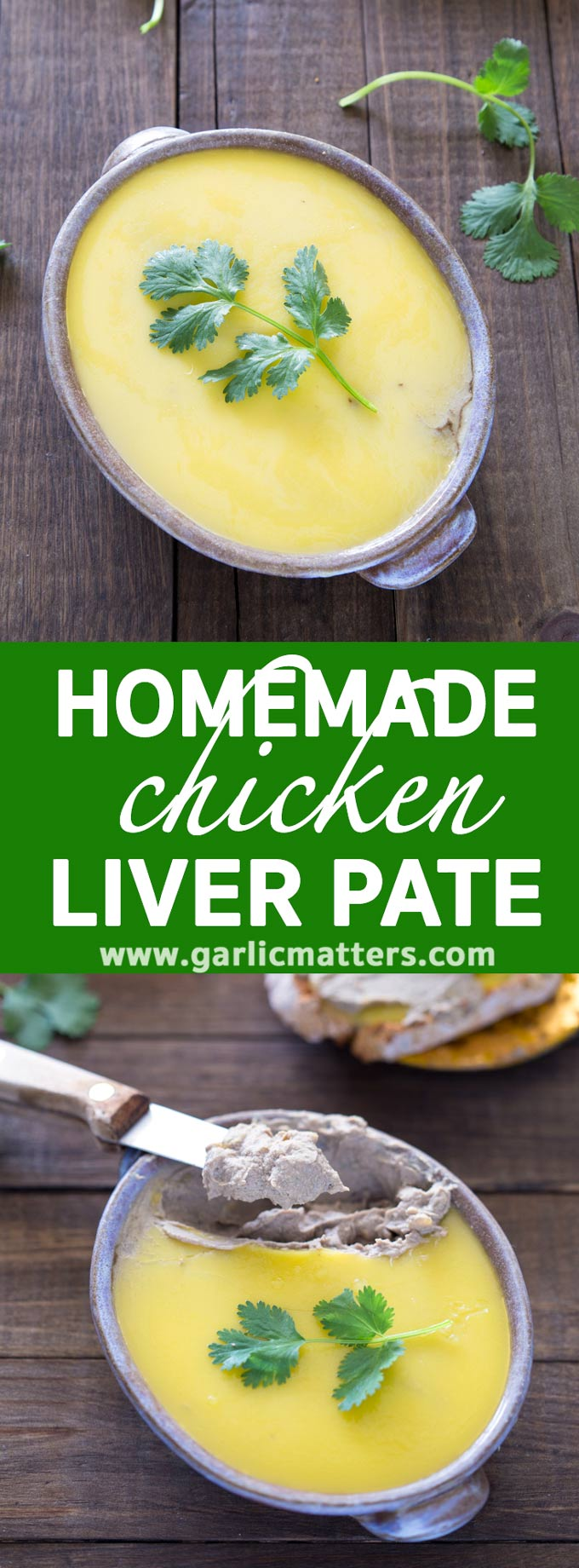Homemade chicken liver pate recipe - decadent treat that can be made in 30 min with hardly any effort. Super tasty and really easy.
