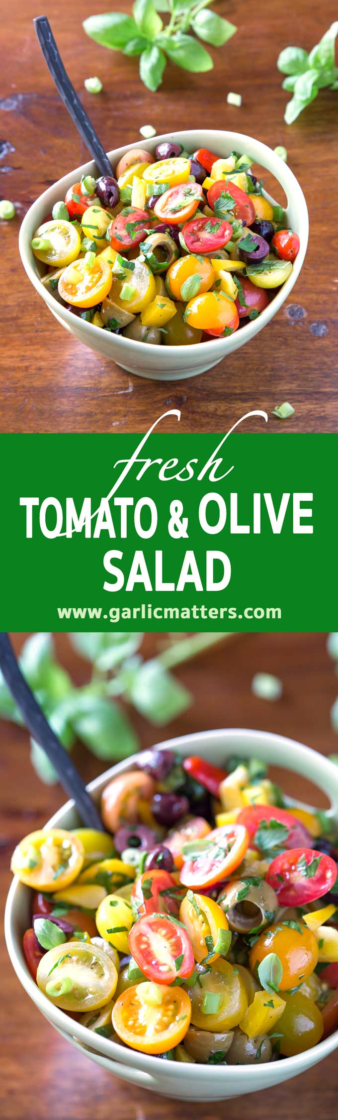 Tomato and Olive Salad recipe delivers bags of fresh tomato flavours. Easy, delicious, ready in minutes, vegan, gluten free diet friendly.