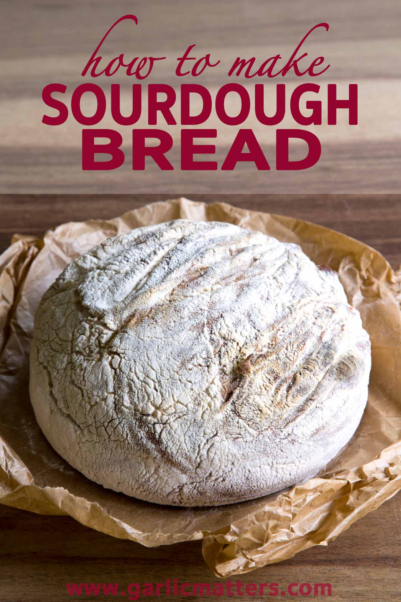 How to make sourdough bread with step by step instructions. Simple method to produce the most delicious, healthy sourdough bread.