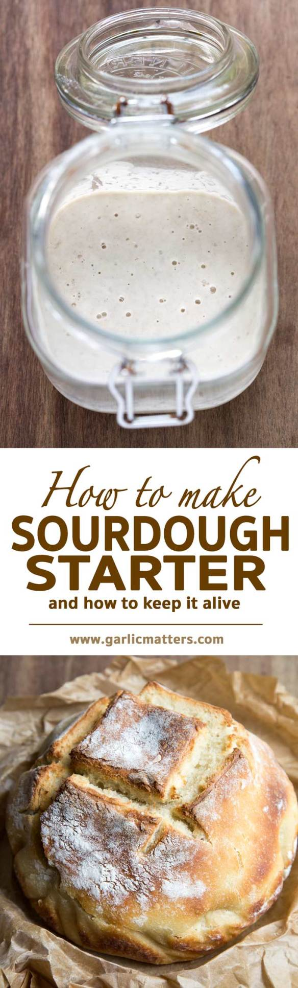 Learn how to make best sourdough starter with wild yeast for the most delicious sourdough bread. Step by step instructions and problem solving.