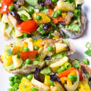 Pea Hummus and Roasted Vegetable Sandwich