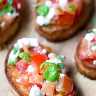 HONEY SALMON FETA BRUSCHETTA