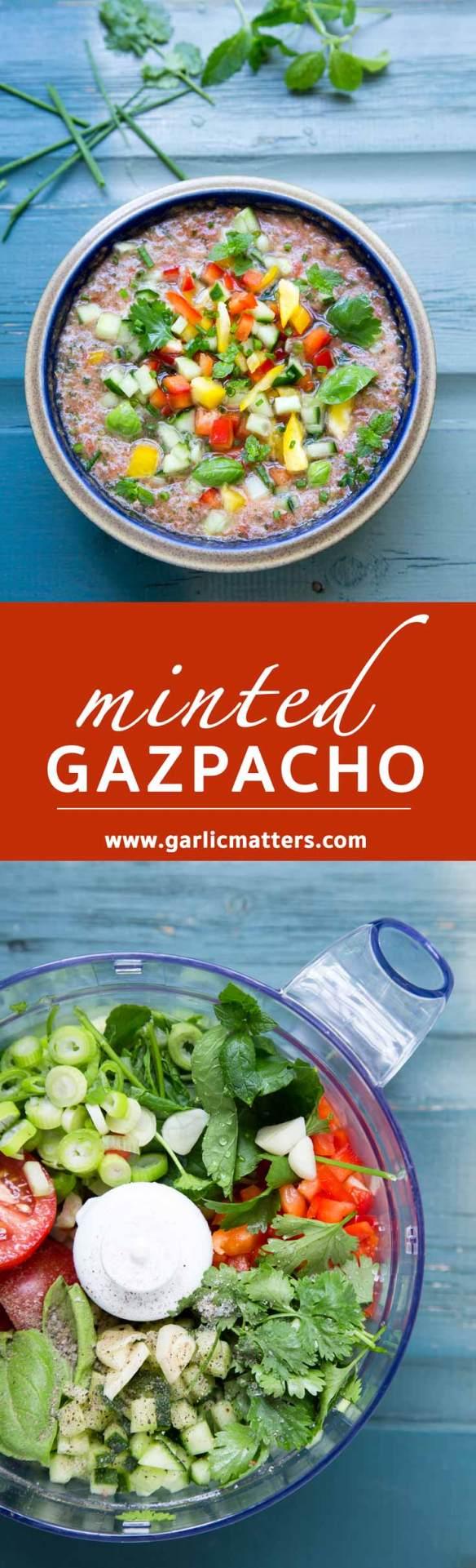 Minted Summer Gazpacho soup recipe